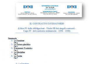 il contratto estimatorio 1