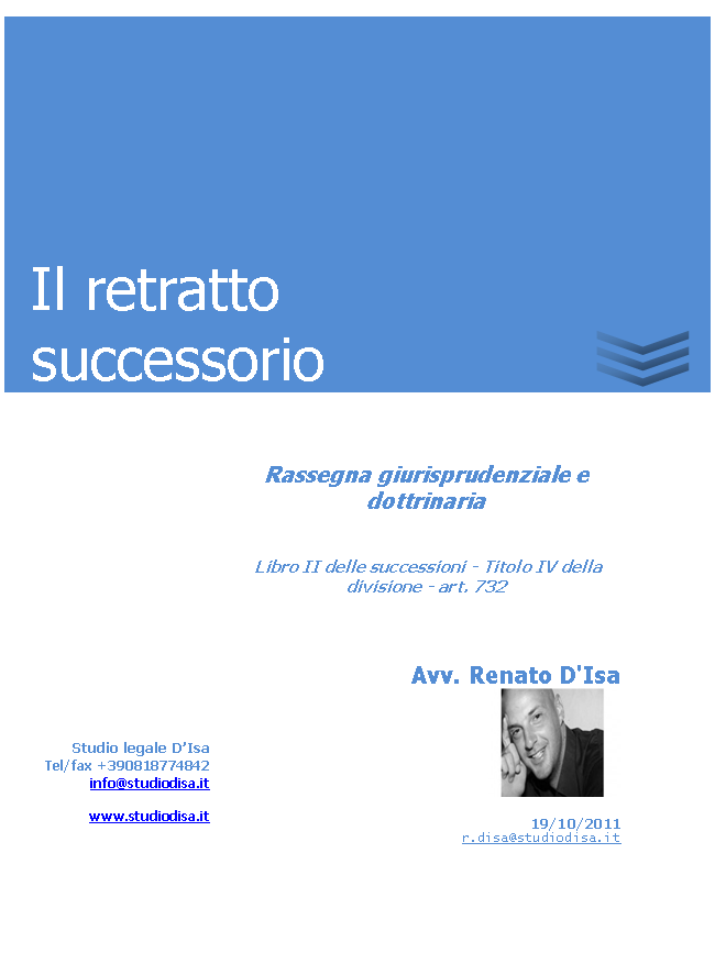 Il retratto successorio