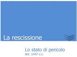 la rescissione 1