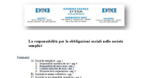 la responsabilitc3a0 per le obbligazioni sociali nelle societc3a0 semplici 1