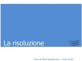 la risoluzione 1