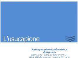 lusucapione 1
